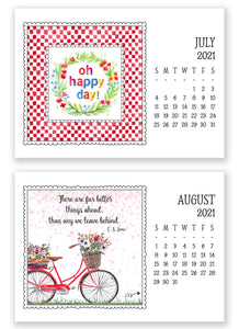2021 Little Lift Calendar with Easel