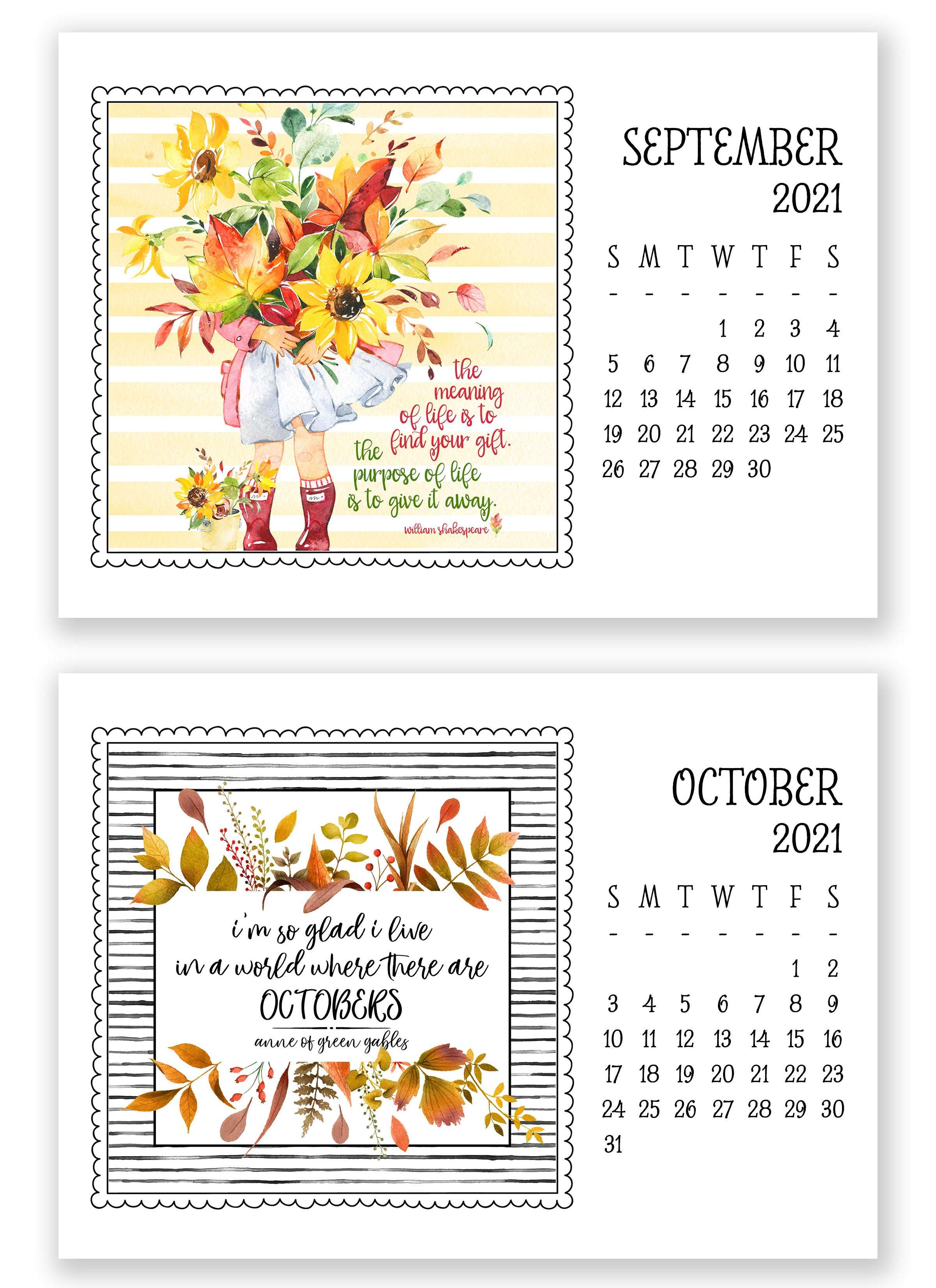 2021 Little Lift Calendar (Refill)