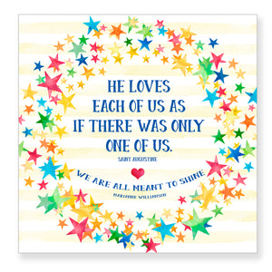 He Loves Each of Us - Frameable Print