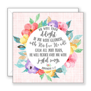 He Will Take Delight - Encouragement Card