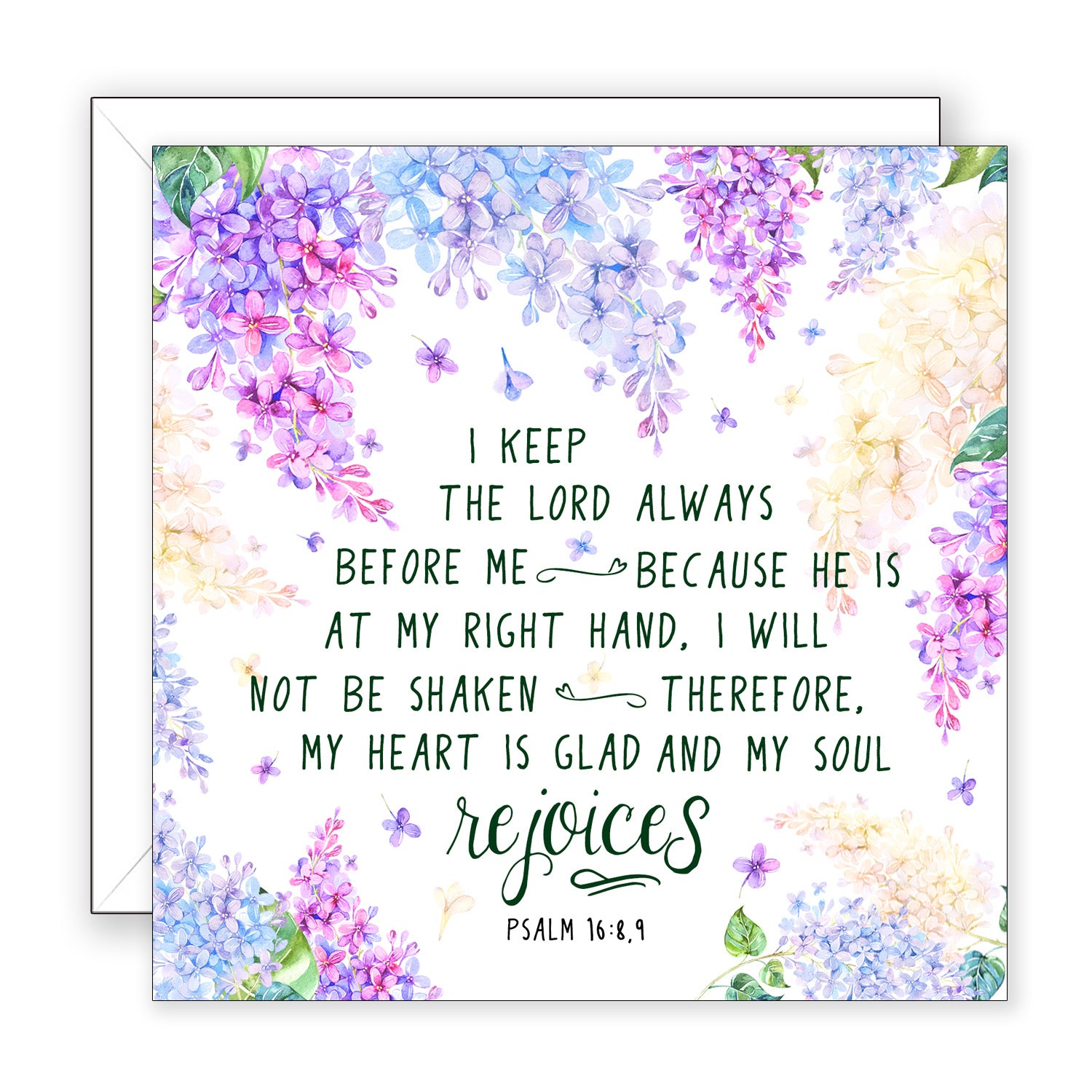 I Keep The Lord - Encouragement Card