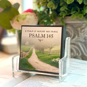 Psalm 145 - A Psalm of Worship and Praise Boxed Mini Print Collection with Acrylic Holder