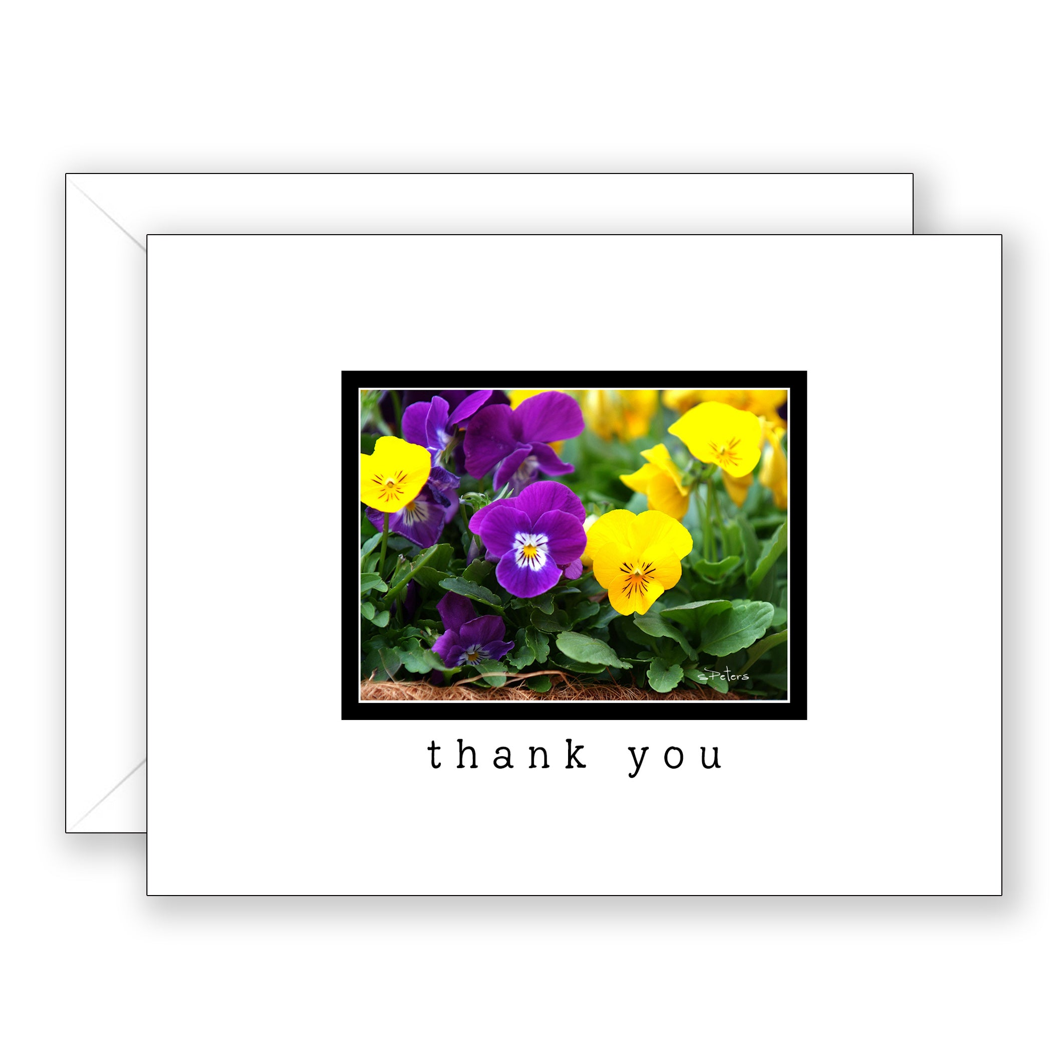 Pair of Pansies - Thank You Card