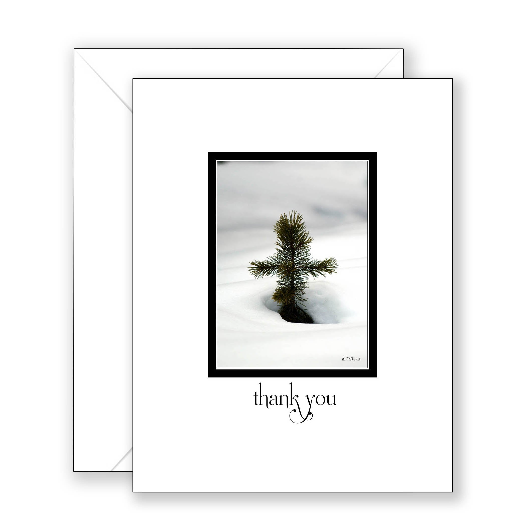 Pine Cross - Thank You Card