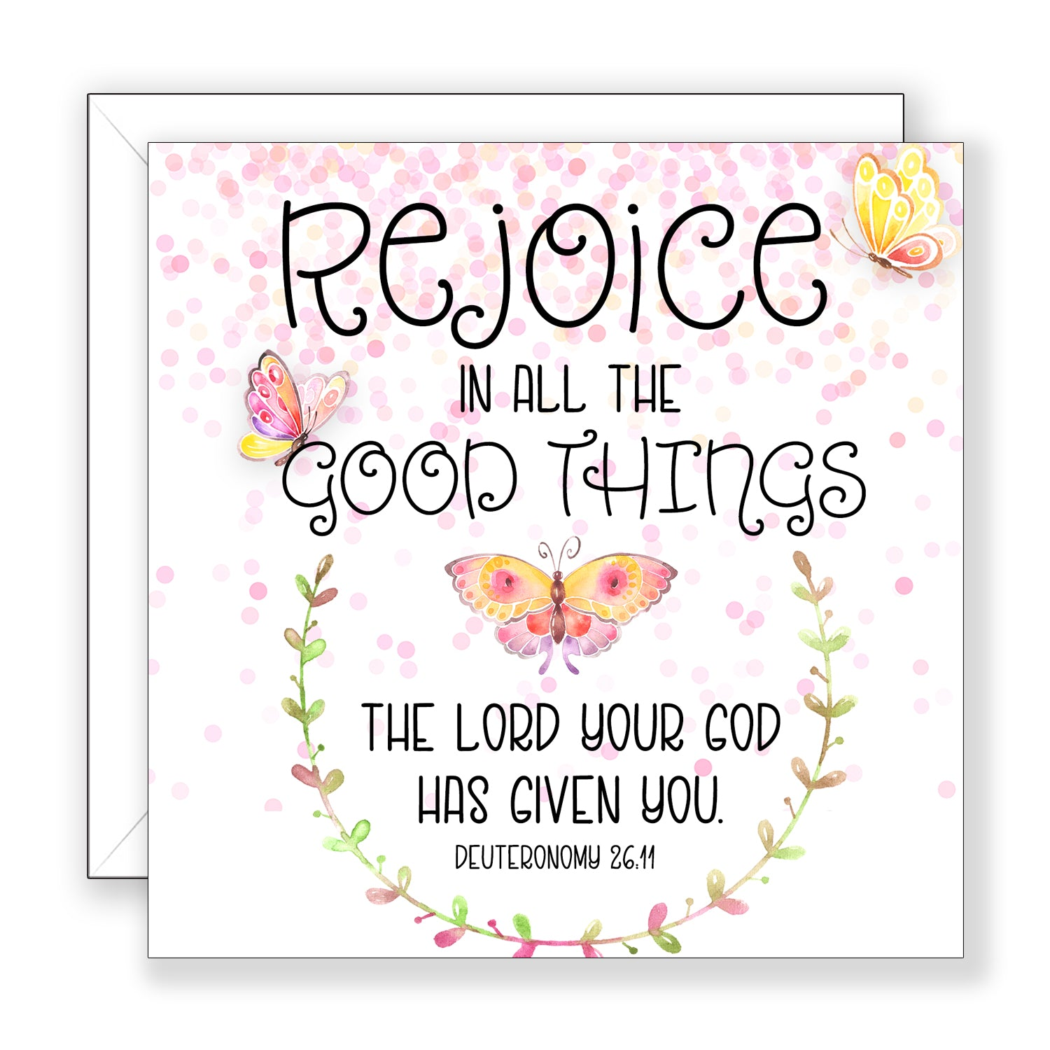 Rejoice In All - Encouragement Card