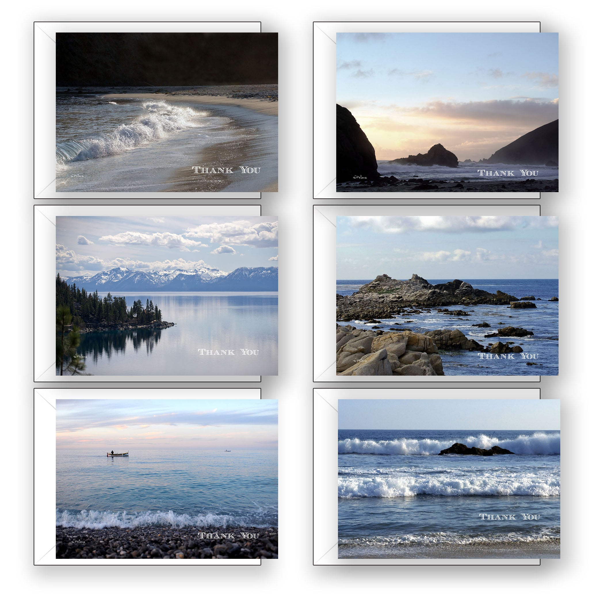 Seaside Thank Yous - Boxed Notecard Collection