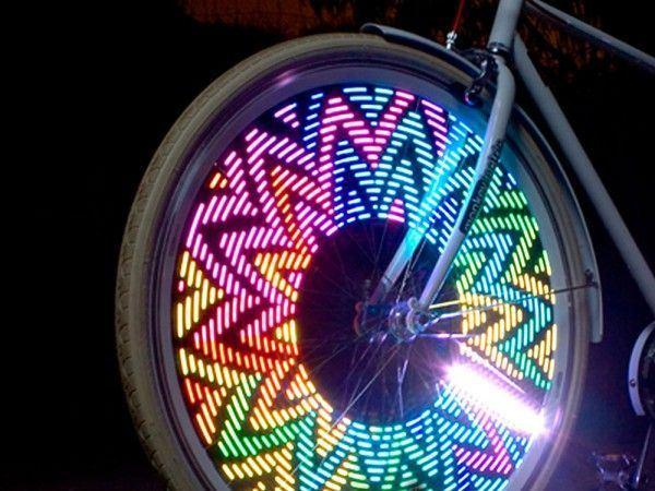 3D Bicycle Spoke LED Lights LuminousUnicorn
