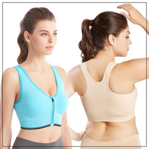 FitMe™ Breathable Zip Front Sports Bra
