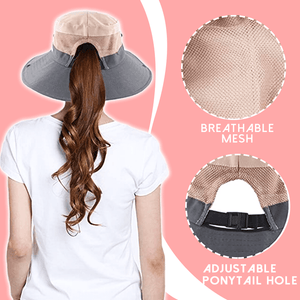 UV Protection Ponytail Sun Hat