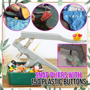 Snap Pliers with 150 Plastic Buttons