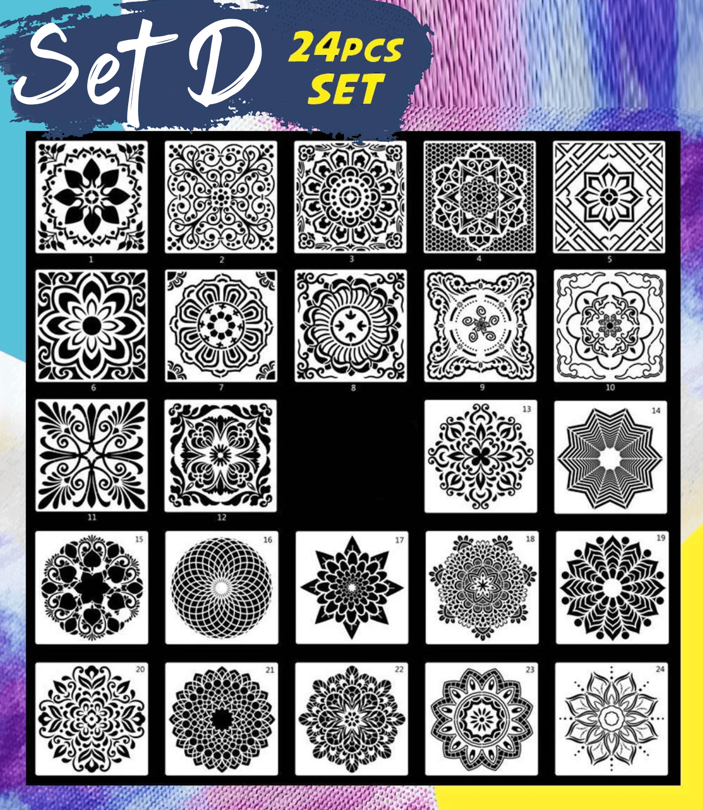 Reusable Mandala Stencil