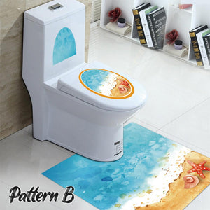 Anti-Skid Toilet Sticker Set LuminousUnicorn