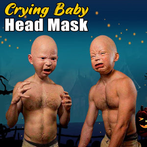 Crying Baby Head Mask LuminousUnicorn