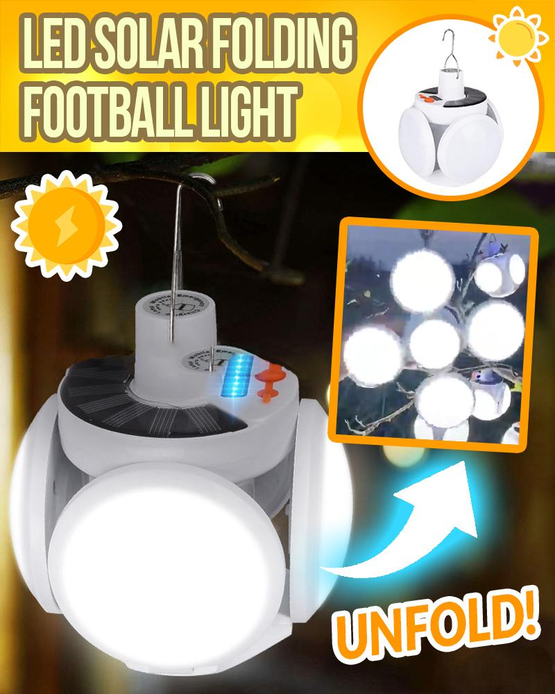 LED Solar Folding Football Light LuminousUnicorn