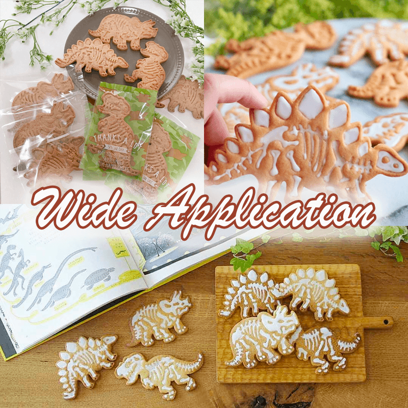 3D Dinosaur Cookie Molds