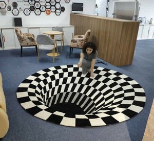 Vortex Illusion Rug LuminousUnicorn