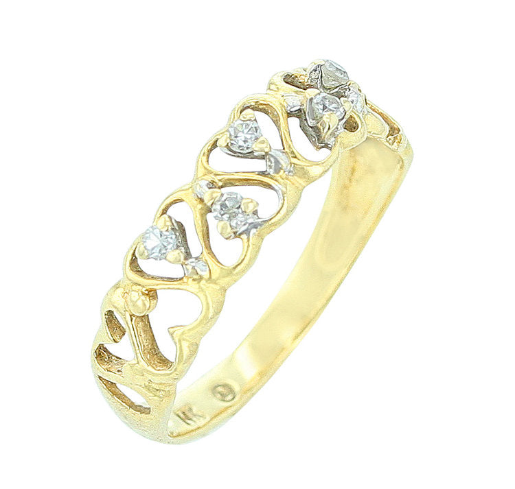 Yellow Gold Heart Shape Ring