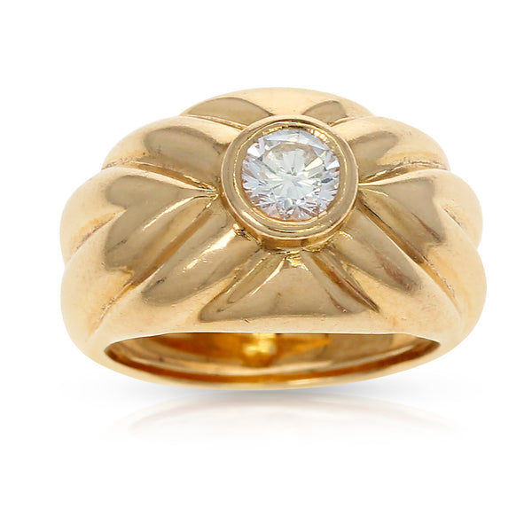 Paris Van Cleef & Arpels 0.48ct. Bezel-Set Round Solitaire Diamond Cocktail Ring