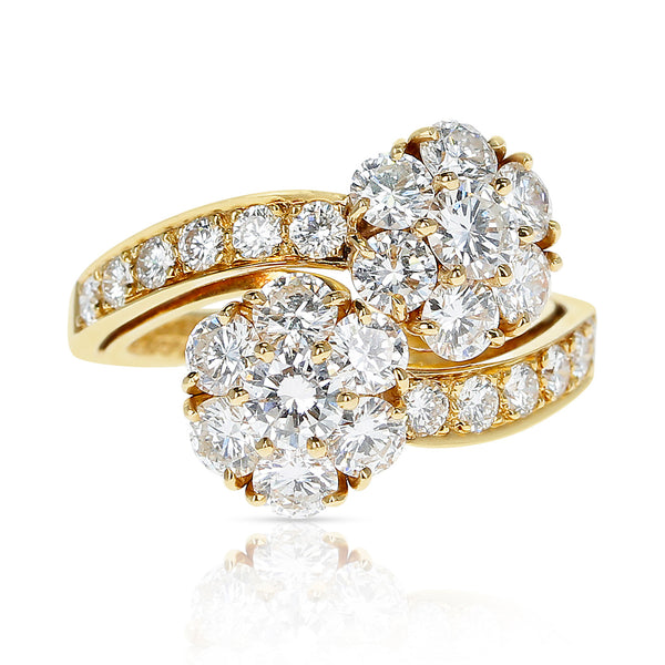 Van Cleef & Arpels 2.50 ct. Diamonds Double Fleurette Ring