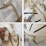 Small Personality basketball Hand Bag Fashion Women Chains Handbag Creative Letter Shoulder Messenger Bag Female Mini Round Tote