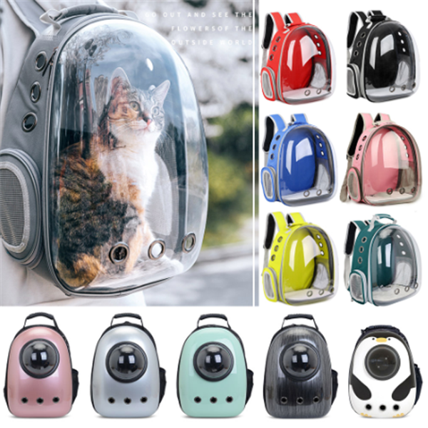 Cat Carrier Bag Breathable Transparent Puppy Cat Backpack Cats Box Cage Small Dog Pet Travel Carrier Handbag Space Capsule