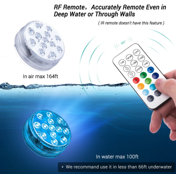 Remote Control of Submersible LED Pool Lights (50%OFF!!!)