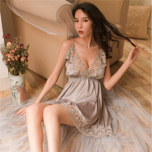 Sling sexy nightdress lace temptation nightgown