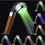 7 Color Changing LED Anion Spa Shower Head Temperature Control Bathroom High Pressure Water Saving Hand Shower head