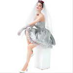 Halloween, adult ghost bride costume