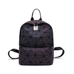 Ladies geometric luminous holographic backpack