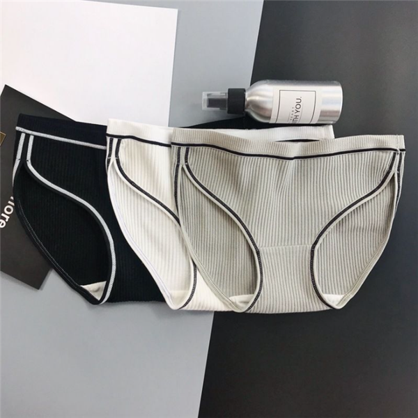 Pure cotton ladies simple sports striped panties
