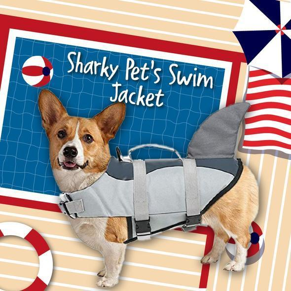Shark Fin Pet's Swim Jacket