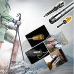 Multifunctional Trekking Pole Aluminum Folding Ultralight Quick Lock Trekking Poles Hiking Pole Outdoor Stick Survival Tool