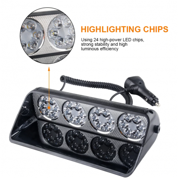 24 LED Car Windshield Strobe Light