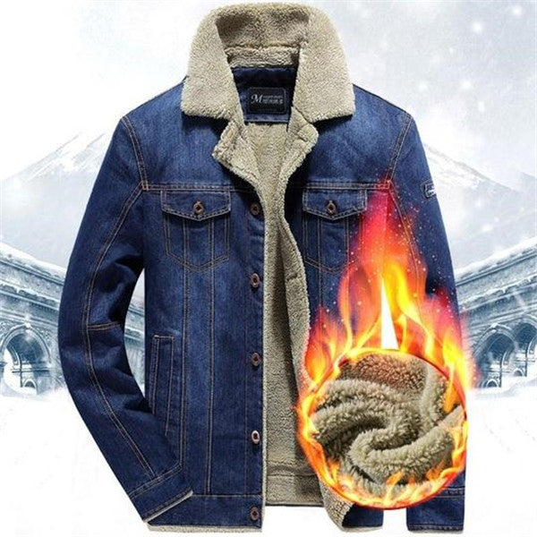 Incredibly beautiful and warm jeans winter jacket