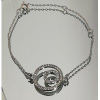 Bracelet rhodié double cercles - Shopmarketly