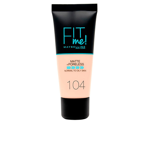 FIT ME! Fond de teint mat + poreless # 104-soft ivory 30 ml - Shopmarketly