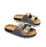 Holographic Double Strap Sandal