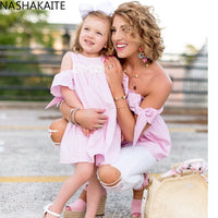 Pink off shoulder Mommy and me Top