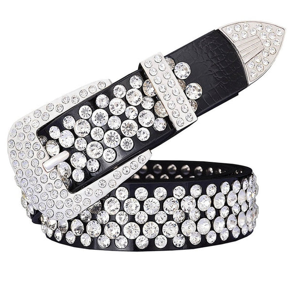 Genuine Leather Luxury Rhinestone Belts