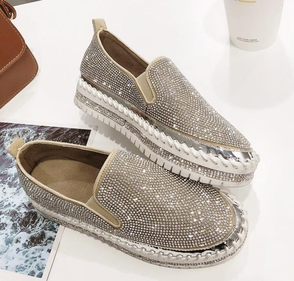 Rhinestone Bling Bling Loafers