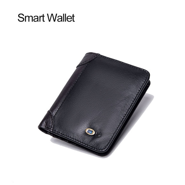 Men's Vertical Leather Smart Wallet