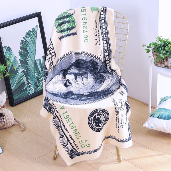 One Hundred Dollar Bill Beach Towel