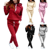 Women`s Two Piece Hooded Set