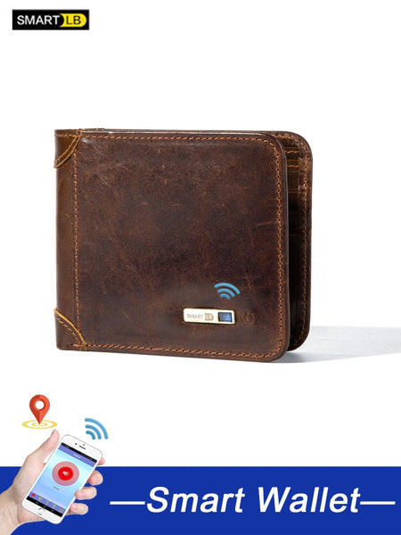 Cowhide Leather Smart Wallet