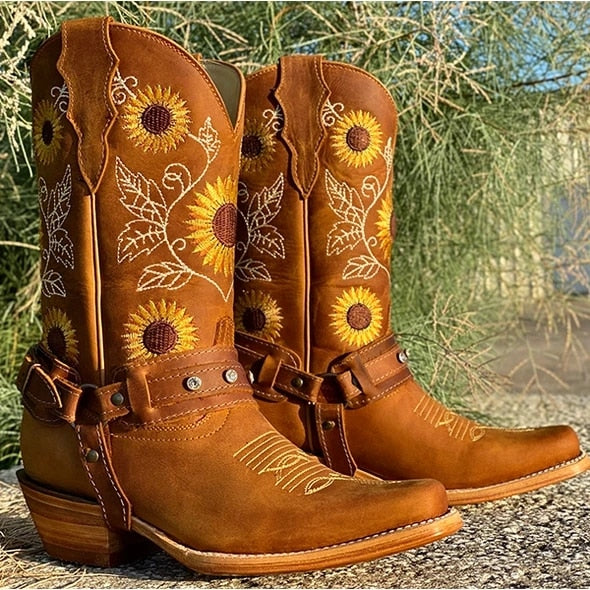 Double Designed Cowgirl Boots