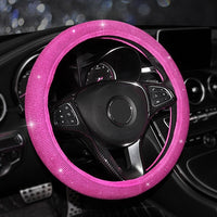 All Crystals Car Steering Wheel Cover