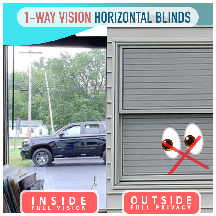 1-way Vision Horizontal Blinds - Hazelnutway.us