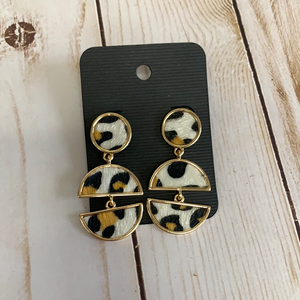 Sale earrings cheetah circles