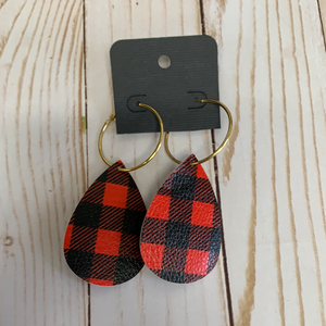 Sale earrings checkered